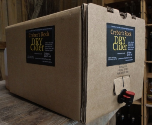 20 Litres of Draught Cider (35 pints)Bag in Box Dry, Medium or S